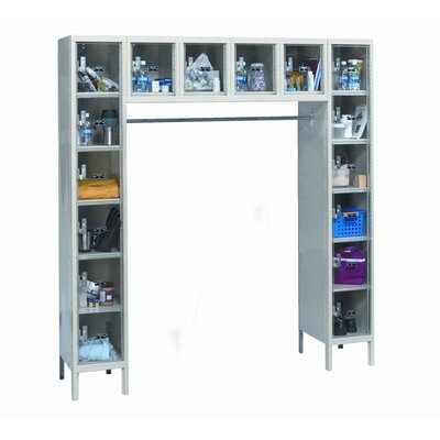 Hallowell ReadyBuilt Locker Double Tier 1 Wide (Assembled)