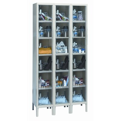 Hallowell Safety-View Plus Stock Lockers - Six Tiers - 3 Sections (Unassembled)