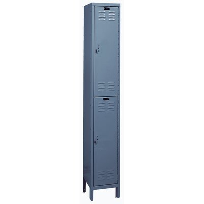 Hallowell ValueMax One Wide Double Tier Locker in Hallowell Gray (Assembled)
