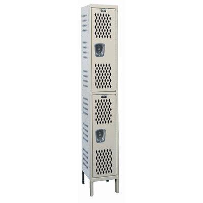 Hallowell Heavy Duty 2 Tier 1 Wide Ventilated Stock Locker