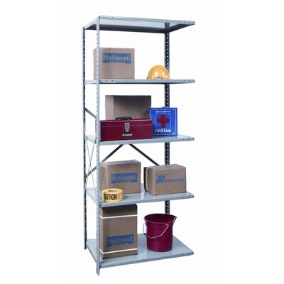 "Hallowell Hi-Tech Extra Heavy-Duty Open Type 87"" H 5 Shelf Shelving Unit Add-on"