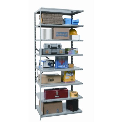 Hallowell Hi-Tech Shelving  Heavy-Duty Open Type Starter and Optional Add-on Unit with 8 Shelves