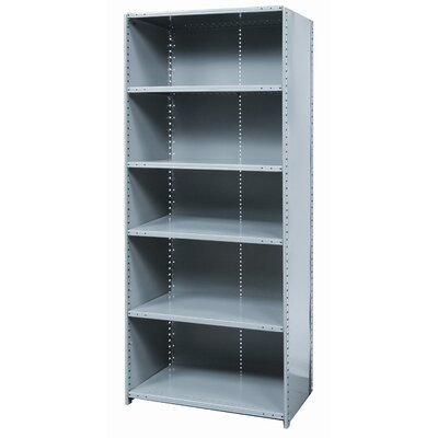 Hallowell Hi-Tech Shelving Heavy-Duty Closed Type Starter and Optional Add-on Unit with 6 Shelves