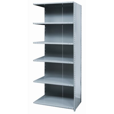 Hallowell Hi-Tech Shelving Medium-Duty Closed Type Starter and Optional Add-on Unit with 6 Shelves