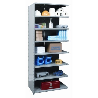 "Hallowell Hi-Tech Medium-Duty Closed Type 87"" H 8 Shelf Shelving Unit Add-on"