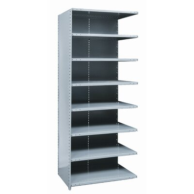 Hallowell Hi-Tech Shelving Medium-Duty Closed Type Starter and Optional Add-on Unit with 8 Shelves