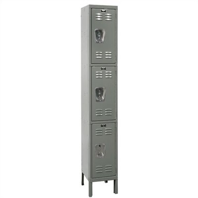 Hallowell Premium Locker Triple Tier 1 Wide (Knock-Down)