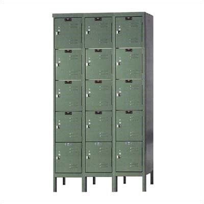 Hallowell Premium Locker 5 Tier 3 Wide (Knock-Down) (Quick Ship)