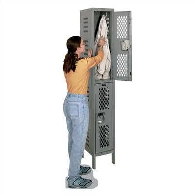 Hallowell Heavy Duty Ventilated Stock Lockers - Double Tier - 1 Section (Assembled)