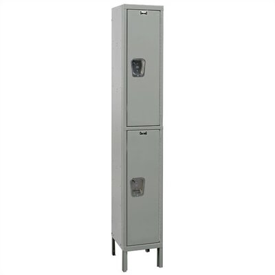 Hallowell Maintenance-Free Quiet Stock Lockers - Double Tier - 1 Section (Assembled)