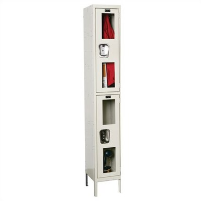 Hallowell Safety-View Stock Lockers - Double Tier - 1 Section (Assembled)
