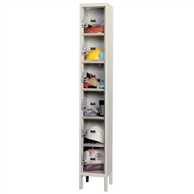 Hallowell Safety-View Plus Stock Lockers - Six Tiers - 1 Section (Assembled)