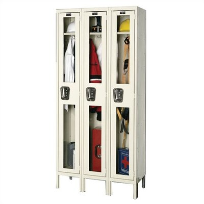 Hallowell Safety-View Stock Lockers - Single Tier - 3 Sections (Assembled)
