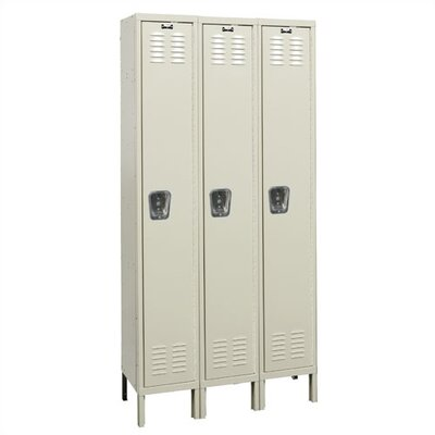 Hallowell Premium Stock Lockers - Single Tier - 3 Sections (Unassembled)