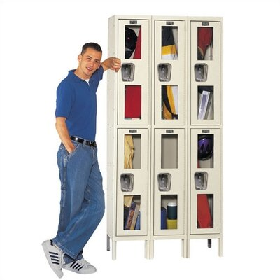 Hallowell Safety-View Stock Lockers - Double Tier - 3 Sections (Unassembled)