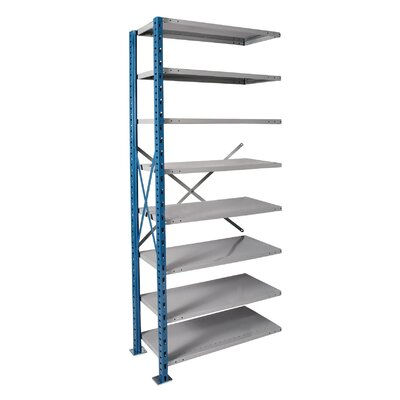Hallowell H-Post High Capacity Shelving 8 Adjustable Shelves Add-on Unit Open Style with Sway Braces