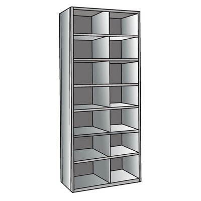 "Hallowell Hi-Tech 87"" H 7 Shelf Shelving Unit"