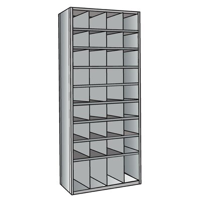 "Hallowell Hi-Tech 87"" H 9Shelf Shelving Unit"