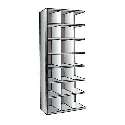 "Hallowell Hi-Tech Bin 87"" H 8 Shelf Shelving Unit Add-on"