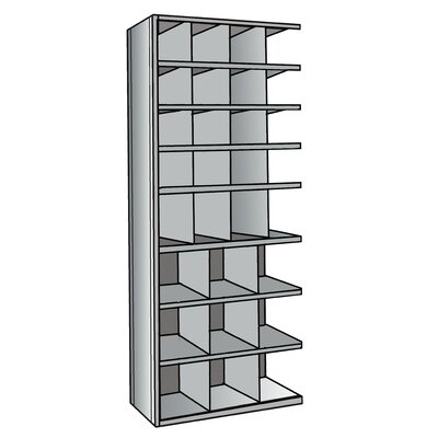 "Hallowell Hi-Tech Bin 87"" H 8 Shelf Shelving Unit Add-on"