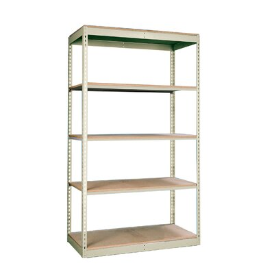 "Hallowell Rivetwell Single Rivet Boltless 84"" H 4 Shelf Shelving Unit Add-on"