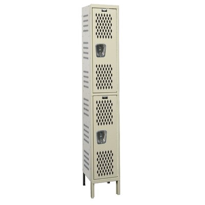 Hallowell Heavy-Duty Ventilated Locker Double Tier 1 Wide (Assembled) (Quick Ship)