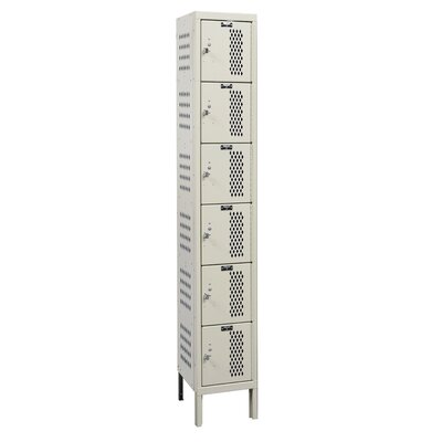 Hallowell Heavy-Duty Ventilated Locker 6 Tier 1 Wide (Assembled) (Quick Ship)