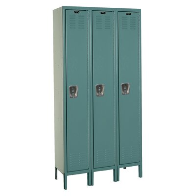 Hallowell Premium 3-Wide Single Tier Locker (Unassembled) (Quick Ship)
