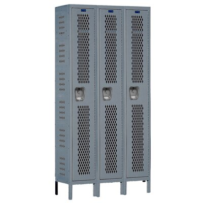 Hallowell Heavy-Duty Ventilated 3-Wide Single Tier Locker (Assembled) (Quick Ship)