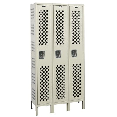 Hallowell Heavy-Duty Ventilated 3-Wide Single Tier Locker (Unassembled) (Quick Ship)