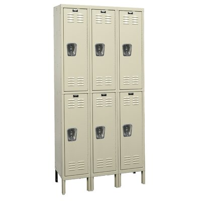 Hallowell Premium 3-Wide Double Tier Locker (Unassembled)