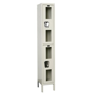 Hallowell Safety-View Locker Double Tier 1 Wide (Assembled) (Quick Ship)