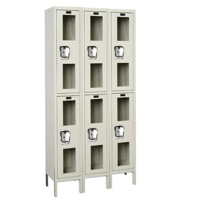 Hallowell Safety-View Locker Double Tier 3 Wide (Knock-Down) (Quick Ship)