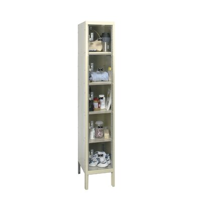 Hallowell Safety-View Plus Locker 5 Tier 1 Wide (Assembled) (Quick Ship)