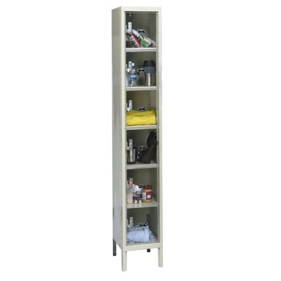 Hallowell Safety-View Plus 1-Wide 6-Tier Locker (Assembled)