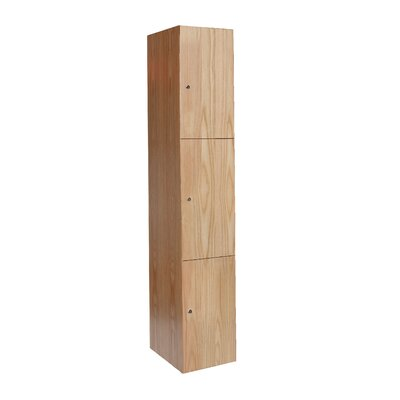 Hallowell All-Wood Club Locker Triple Tier 1 Wide (Assembled)