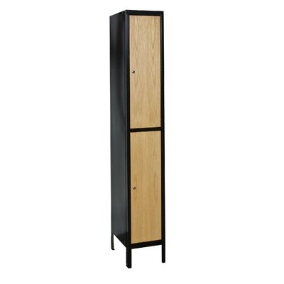 Hallowell Metal Wood Hybrid Locker Double Tier 1 Wide (Knock-Down)