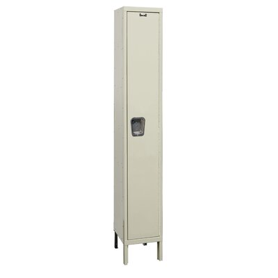 Hallowell Maintenance-Free Quiet Stock Lockers - Single Tier - 1 Section (Assembled)