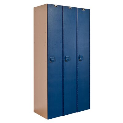 Hallowell AquaMax Plastic Locker Single Tier 3 Wide (Assembled) (Quick Ship)