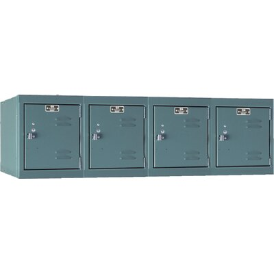 Hallowell Premium Locker 4 Wide Wall Mount (Assembled)