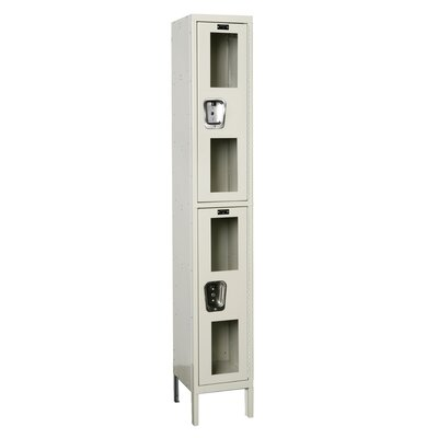 Hallowell Safety-View Locker Double Tier 1 Wide (Assembled)