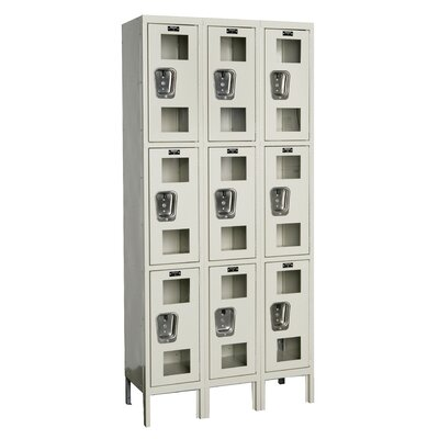 Hallowell Safety-View Locker Triple Tier 3 Wide (Assembled) (Quick Ship)