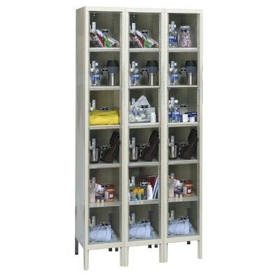 Hallowell Safety-View Plus Locker 6 Tier 3 Wide (Assembled) (Quick Ship)