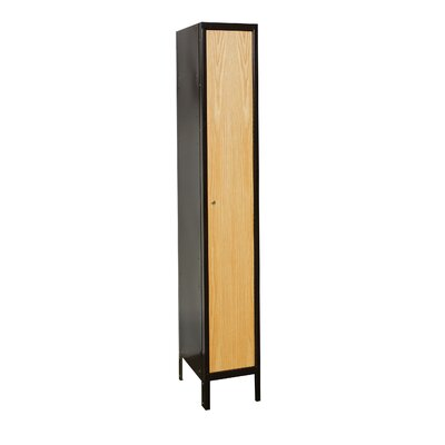 Hallowell Metal Wood Hybrid Locker Single Tier 1 Wide (Assembled) (Quick Ship)