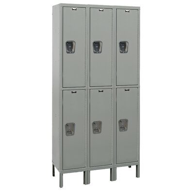 Hallowell Maintenance-Free Quiet Locker Double Tier 3 Wide (Assembled)