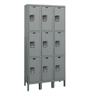 Hallowell Maintenance-Free Quiet Locker Triple Tier 3 Wide (Assembled) (Quick Ship)