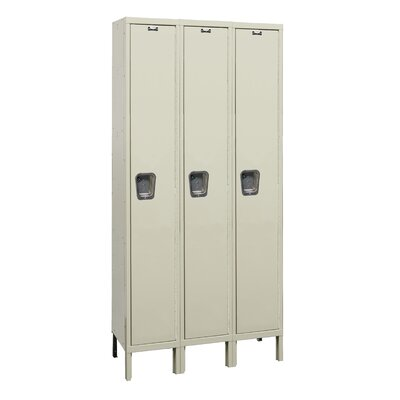 Hallowell Maintenance-Free Quiet Locker Single Tier 3 Wide (Assembled) (Quick Ship)