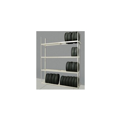 Hallowell Rivetwell Shelving Tire Storage Starter Unit with 4 Levels