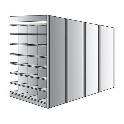 "Hallowell Deep Bin 87"" H 8 Shelf Shelving Unit Add-on"
