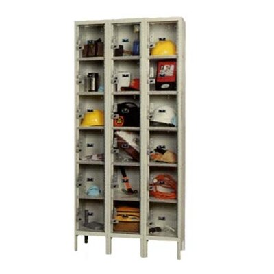 Hallowell Safety-View Plus Stock Lockers - Five Tiers - 3 Sections (Unassembled)